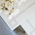 Greek Key Stenciled Nesting Tables