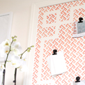 Stenciled Pinboard