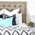 Tufted Headboard with nailhead
