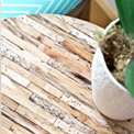 Wood Tiled Driftwood Table