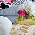 Herringbone Driftwood Table