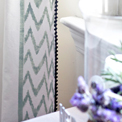 Border Stenciled Draperies